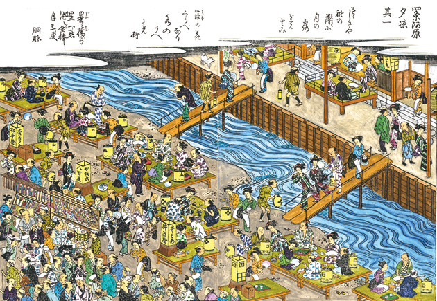 「鴨川納涼床」の画像検索結果